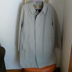 Burberry Tan Hidden Button Trench Coat